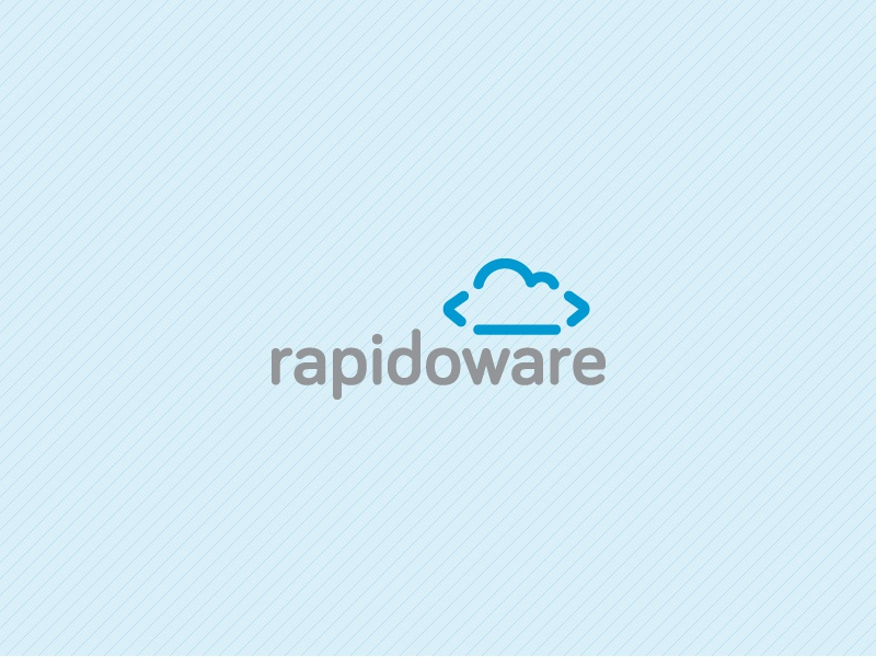 Rapidoware logo mobile company brackets coding computing enterprise development software cloud effendy brazil