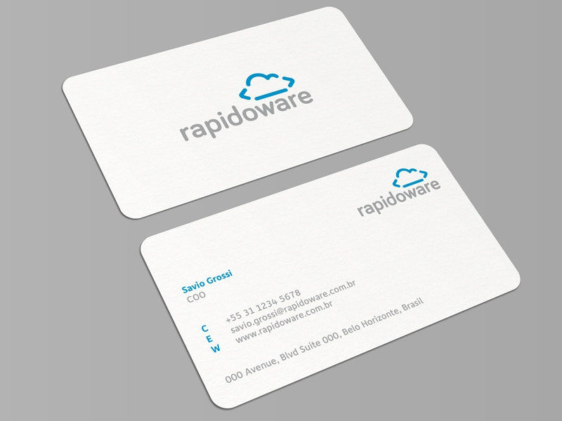 Rapidoware business card dribbble