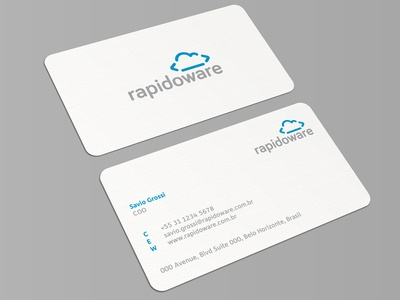 rapidoware business card by muhammad ali effendy dribbble