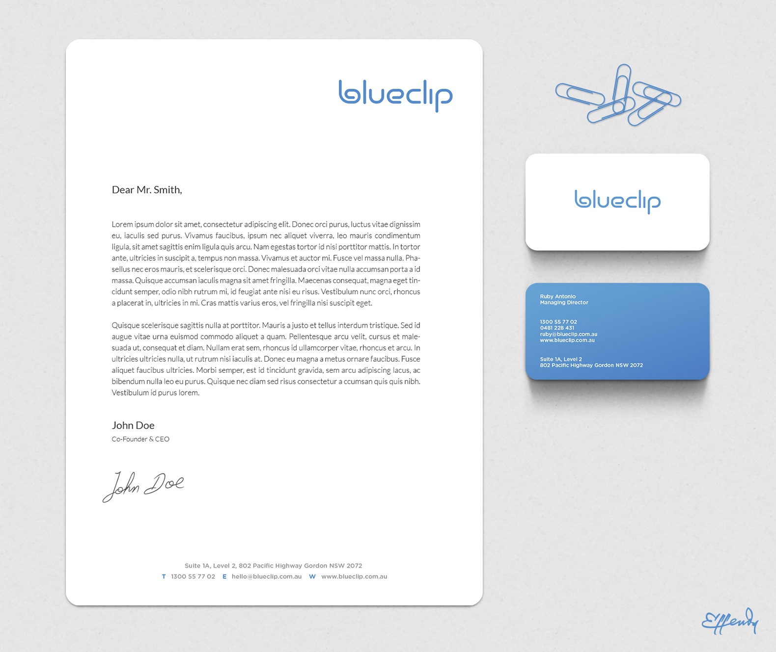 Blueclip corporate stationery large