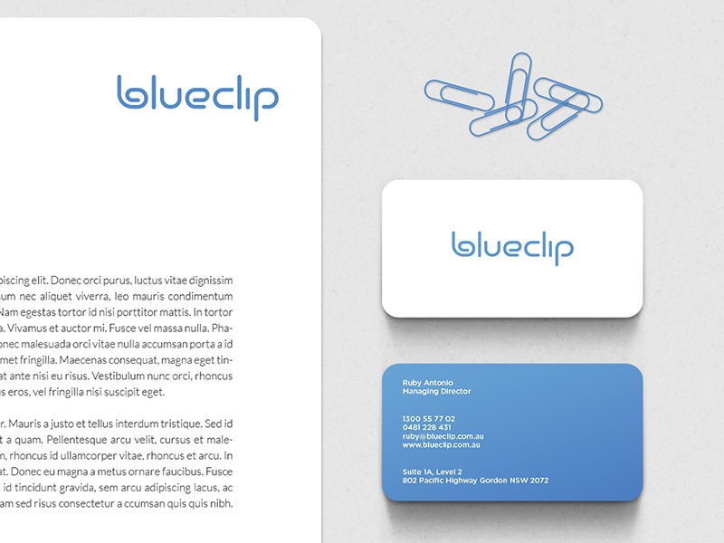 Blueclip corporate identity dribbble