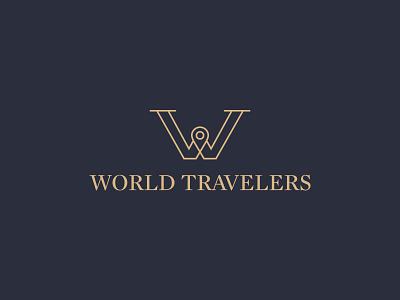 World Travelers world travelers travel location pin w pin ali effendy logo identity luxury luxurious