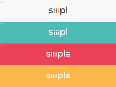 Siiimpl Wordmark Options agency wordmark identity letters web design colorful ali effendy