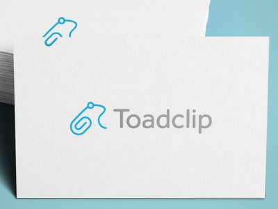Toadclip toad frog clip ali effendy logo icon paperclip business card mockup