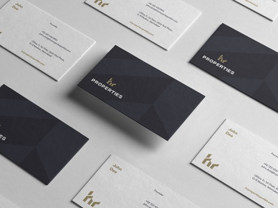 HR Properties Business Card businesscard print design real estate branding branding brand identity collaterals stationery identity logo hr logo print design real estate construction luxury effendy corporate identity business card mockup hrproperties luxury branding