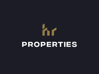 HR Properties - Logo Animation animated logo mark typography logomark symbol house home building animation logo animation identity design brand identity luxury branding luxury real estate hr monogram hr hr properties effendy logo