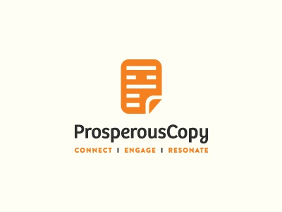 ProsperousCopy logo identity effendy logos ali prosperouscopy copy prosperous document paper folded fold happy p connect engage resonate copywriter writing