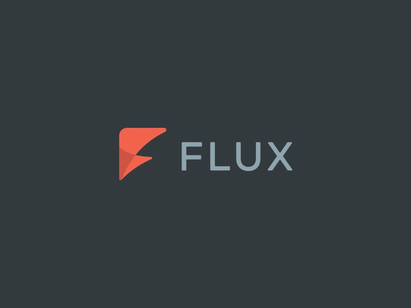 Flux  f identity home initials effendy logo home automation abstract edgy flux transparency brandidentity