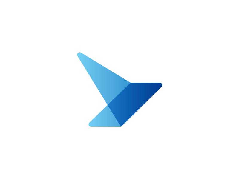 Birdy Mark Gradient  gradient abstract design wings mark effendy logo bird logo design identity accounting app
