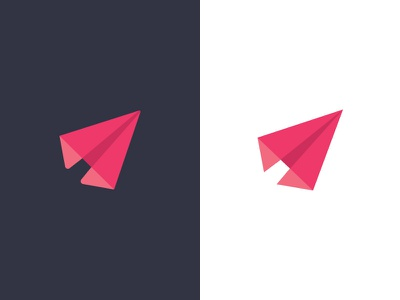Paper Plane social networks fast transparency app icon effendy branding logo plane paper