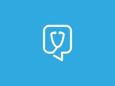 Stethoscope + Dialog Box ali effendy logo medical doctor health stethoscope platform speech bubble dialog box