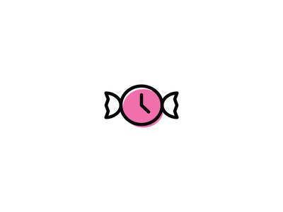 Time Candy  ali effendy sweet candy fun concept identity logo clock time