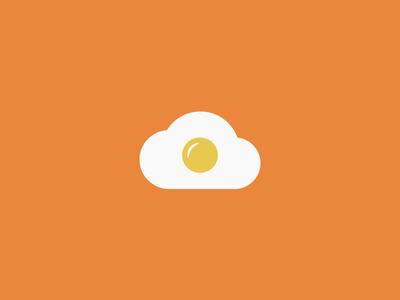 Cloud + Egg  health yolk effendy ali concept symbol icon logo breakfast omelette egg cloud