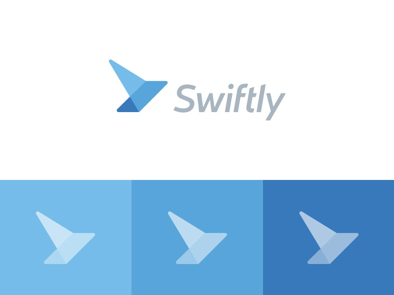 Swiftly abstract swift app accounting identity bird logo effendy mark wings design swiftly