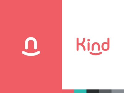 Kind startup in-home wordmark carer home logotype effendy ali brand identity logo identity smile