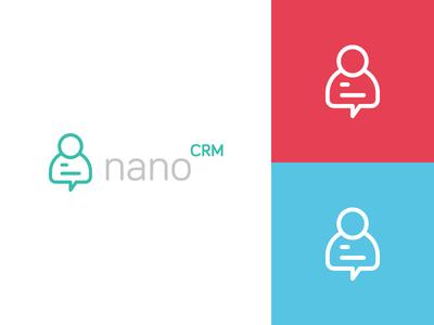 nano CRM speech bubble person social marketing startup ali effendy identity nano logo crm