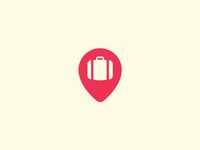 Suitcase + Location Pin