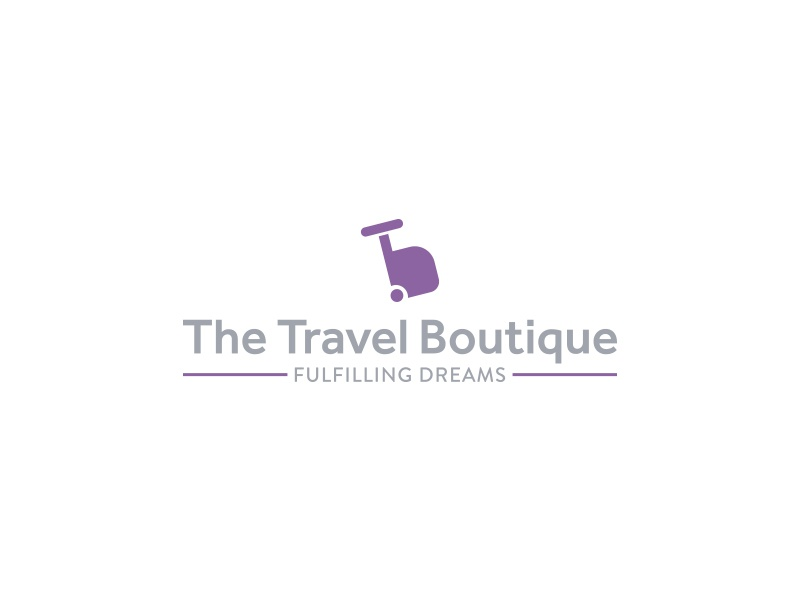 The Travel Boutique  ali branding logo identity travel toursim suitcase agency effendy trip