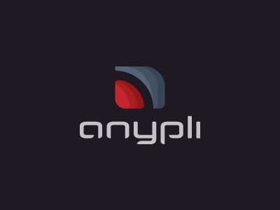 Anypli branding iconic ipad mobile iphone minimal anypli any app icon logo ali effendy application company startup professional corporate software development tunisia logo designer start-up andriod symbian smatphones abstract ios