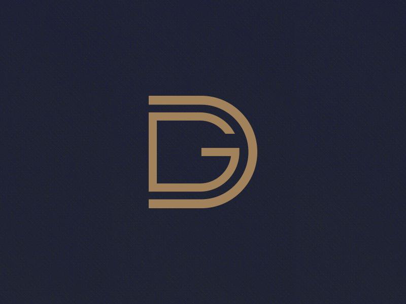 DG Monogram dg monogram luxury symbol ali effendy brand identity outline branding typography trademark initials
