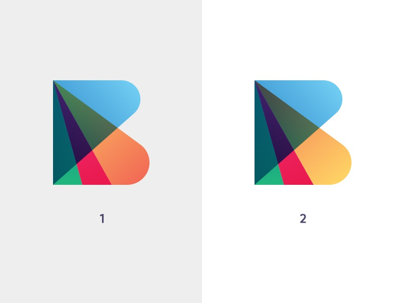 B Color Exploration  ali effendy identity design gradient b initial logo dubai uae marketing