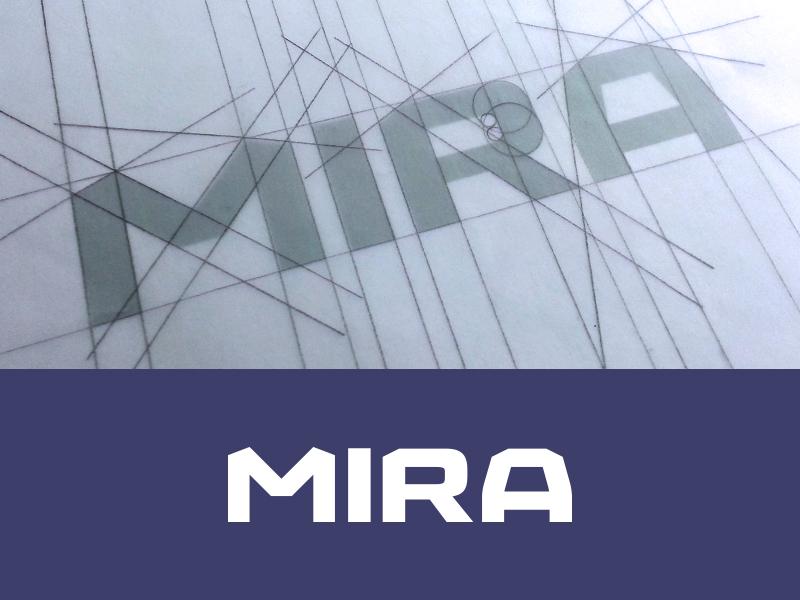 MIRA mira video games logotype wordmark logo logo design effendy 3d tessellation typography vfx