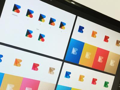 Blueorange Color Explorations ali effendy identity design gradient b initial logo dubai uae marketing