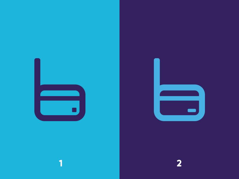 B + Credit Card Logomark effendy ali branding finance debit card credit card logo logomark app