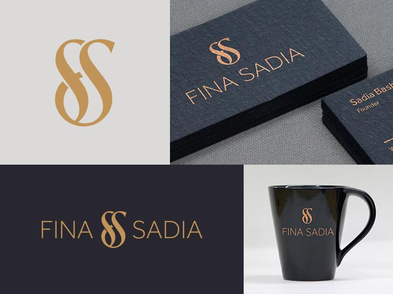 FINA SADIA Brand Identity logo design logo branding effendy interior design ali interior designer sf monogram