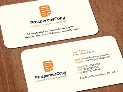 Prosperouscopy biz card dribbble