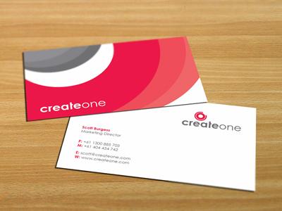 CreateOne Business Card