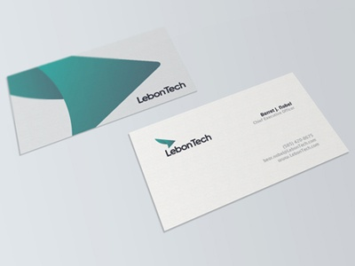 LebonTech Business Card printed business card visiting card card matte finish abstract corporate identity business effendy ali database arrow mark logo designer brand identity identity corporate solutions tech lebon mockup presentataion stationary