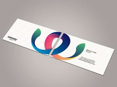 Weway Media Business Card V1 weway media stationary corporate identity business card visiting card branding thomas logo ali effendy colorful vibrant