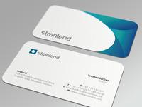 Strahlend biz card mockup