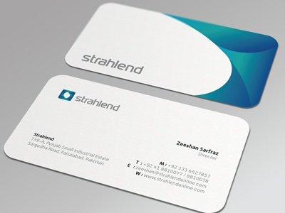 Strahlend Business Card brand identity identity strahlend s abstract mark symbol initial startup industry equipment medical pakistan effendy logo ali corporate identity stationary business card visiting card cards die cut die stationery