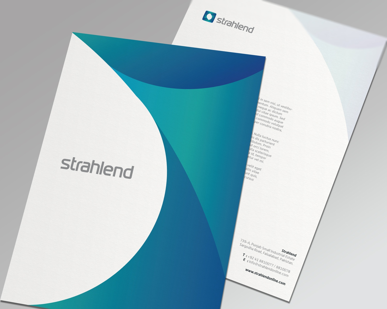 Strahlend letterhead a4 mockup
