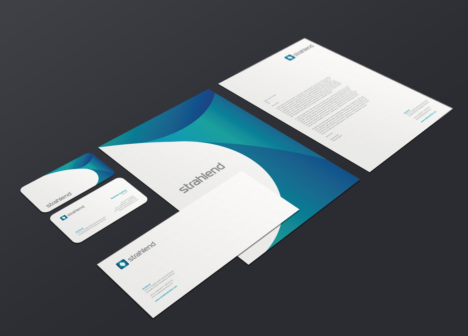 Strahlend corporate identity mockup final