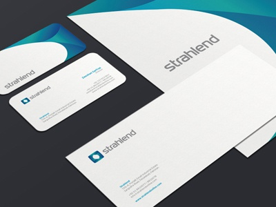 Strahlend Corporate Identity corporate identity identity strahlend letterhead envelope mockup ali effendy brand identity brand medical equipment business card visiting card print media print stationary industry pakistan stationery