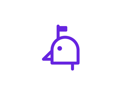 Bird + Mailbox Logo Design