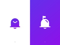 Bellmail logo options dribbble