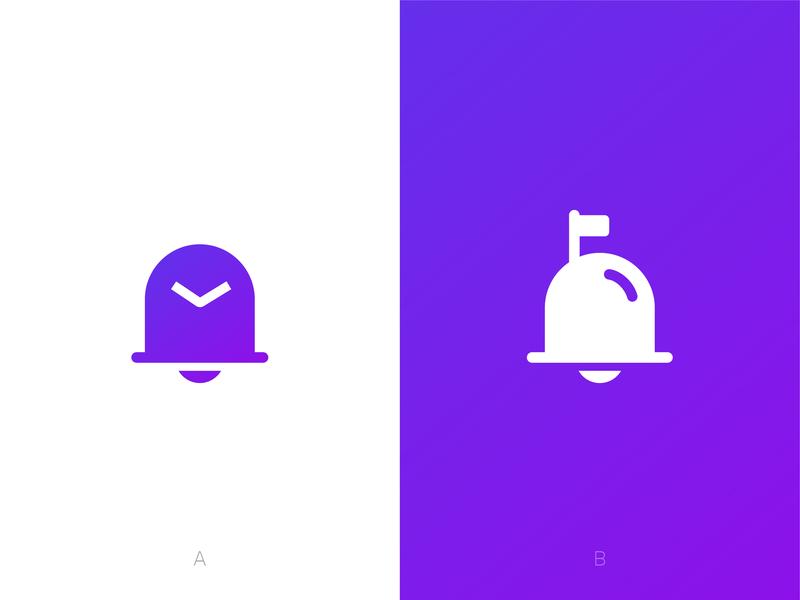 Bell + Mail Logo Mark app email logodesign gradient icon flag mailbox mail notification branding ali bell logo symbol identity effendy