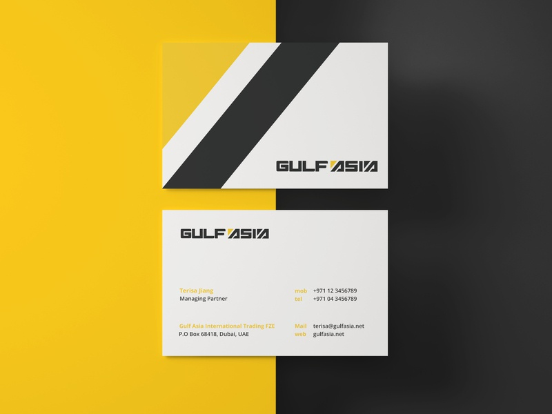 Gulf Asia Business Card by Muhammad Ali Effendy on Dribbble