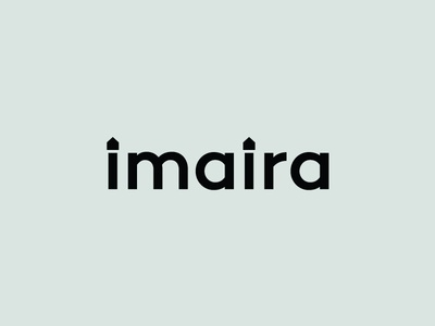 Imaira Logotype startup logo designer logotype wordmark house interior designer home minimal clean brand logo lettering typography branding ali identity effendy