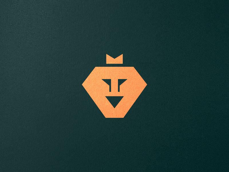 Lion + Golf Flag Logo Design luxury creative logo design logo designer negative space fun mark branding symbol identity lion logo flag lion