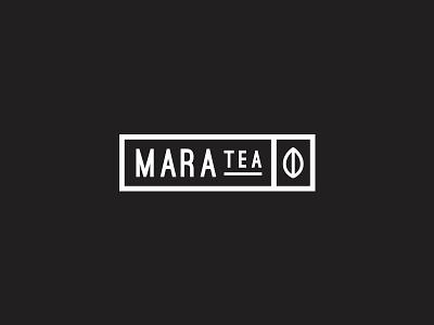 Mara Tea startup organic packaging monoline black brand illustration leaf badge typography minimal modern simple branding identity uae kenya mara logo