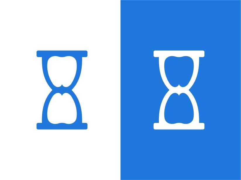 Hourglass + Tooth Logomark time clinic minimal icon startup logo negativespace brandidentity tooth dental clinic dental logo startup canada identity mark symbol branding effendy logo hourglass
