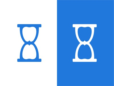 Hourglass + Tooth Logomark