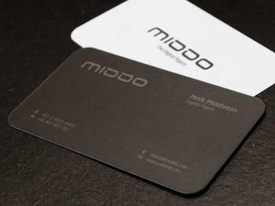 Middo business cards by muhammad ali effendy dribbble middo biz card printed dribbble reheart Images