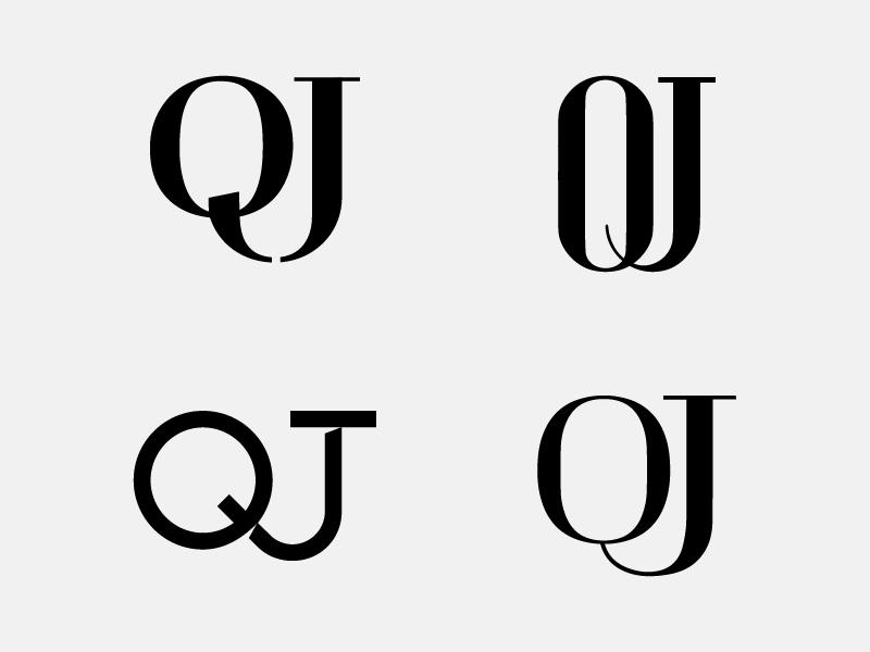 QJ Monogram Exploration logotype letter mark marble dubai stones qj typography monogram identity logo symbol ali effendy