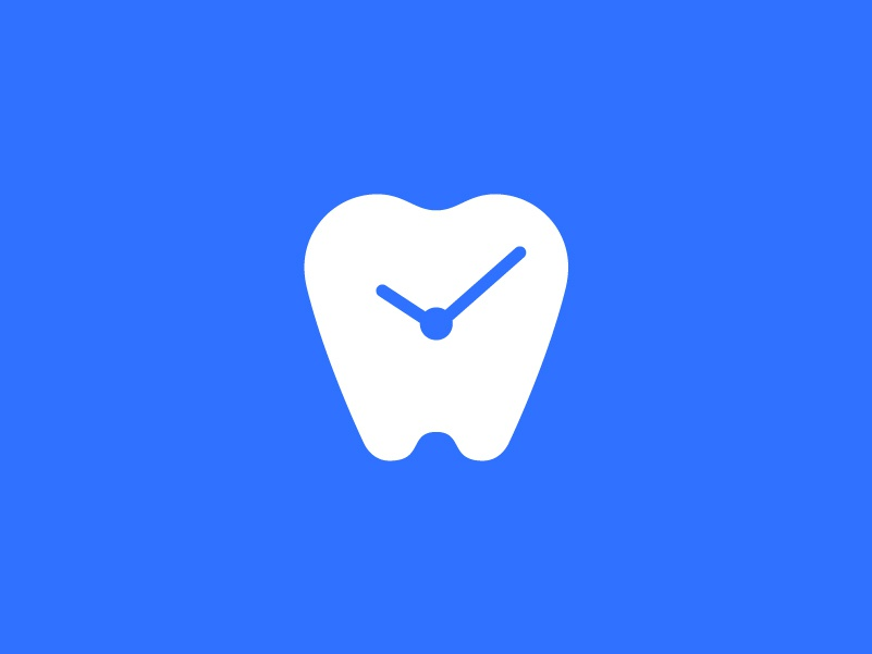 Dental Time Logomark effendy dental clock dental time clock dentist logo dental logo time negative space tooth dental dental clinic logomark symbol logo design logo canada branding minimal teeth brand